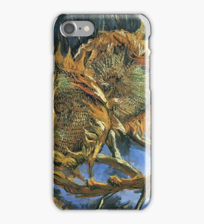 Vincent Van Gogh - Still Life With Four Sunflowers, 1887 iPhone Case/Skin