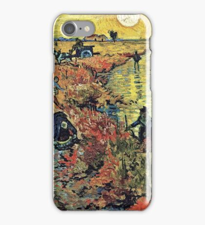 Vincent Van Gogh - Red Vineyards  iPhone Case/Skin