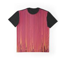 Red Glitch Graphic T-Shirt
