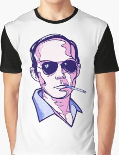 Hunter S. Thompson violet Graphic T-Shirt