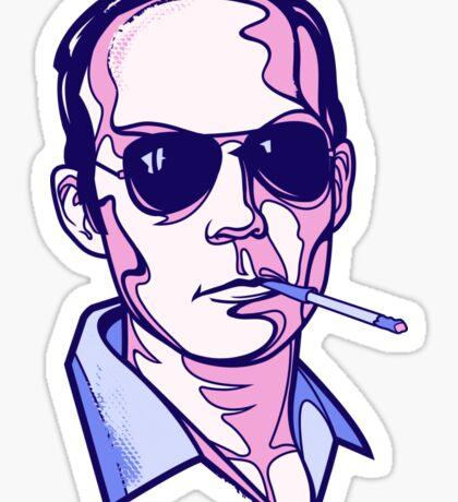Hunter S. Thompson violet Sticker