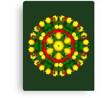 Fractal Christmas Wreath I Canvas Print