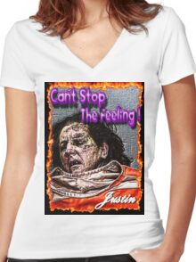 Can't Fight The Feeling! Women's Fitted V-Neck T-Shirt