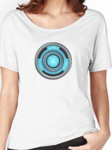 Heart Reactor - Blue Plasma  Women's Relaxed Fit T-Shirt