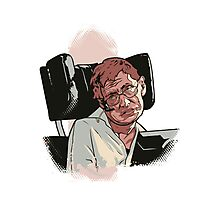 Stephen Hawking Photographic Print