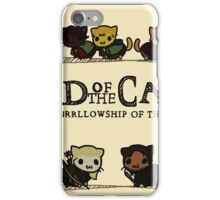 Lord Of the Cats - The Furrlowship of the Ring top edition iPhone Case/Skin