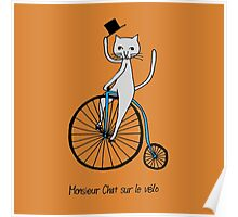 Cat-On-The-Bike Poster