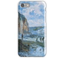 Claude Monet - Cliffs Of Les Petites Dalles iPhone Case/Skin