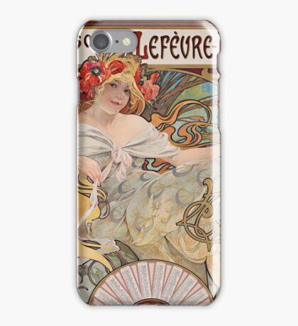 Alphonse Mucha - Bisquits  iPhone Case/Skin