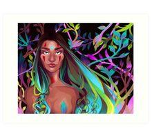 Naked Leaves Art Print