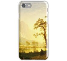 Albert Bierstadt - Sunrise, Yosemite Valley ( 1870)  iPhone Case/Skin