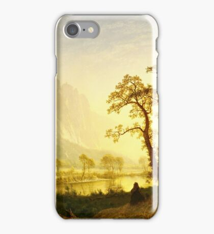 Albert Bierstadt - Sunrise, Yosemite Valley ( 1870)  iPhone Case/Skin