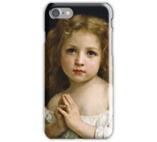 William Bouguereau - Little Girl (1878)  iPhone Case/Skin