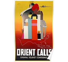 The Orient Calls Travel Poster Poster