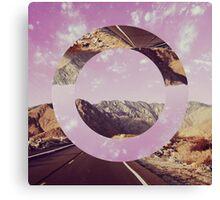 Highway Circle Canvas Print