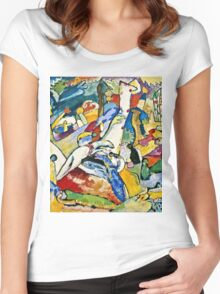 Wassily Kandinsky - Sketch For Composition Ii  Women's Fitted Scoop T-Shirt