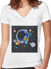 Wassily Kandinsky - Several Circles 1926  Women's Fitted V-Neck T-Shirt