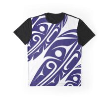 Four Feathers Navy on White Graphic T-Shirt
