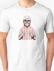 hipster skeleton man Unisex T-Shirt