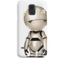 Marvin with flower crown Samsung Galaxy Case/Skin