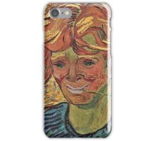 Vincent Van Gogh - Young Man With Cornflower, 1890 iPhone Case/Skin