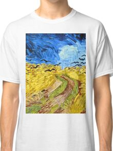 Vincent Van Gogh - Wheatfield With Crows, July 1890 - 1890  Classic T-Shirt
