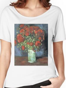 Vincent Van Gogh - Vase With Red Poppies, 1886 Women's Relaxed Fit T-Shirt