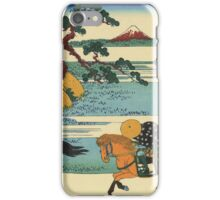 Hokusai Katsushika - Barrier Town on the Sumida River iPhone Case/Skin