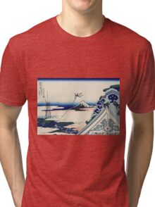 Hokusai Katsushika - Asakusa Hongan-ji temple in the Eastern capital [Edo] Tri-blend T-Shirt