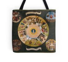 Hieronymus Bosch - The Seven Deadly Sins And The Four Last Things 1485 Tote Bag