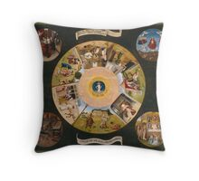 Hieronymus Bosch - The Seven Deadly Sins And The Four Last Things 1485 Throw Pillow
