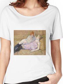Henri De Toulouse Lautrec The Sofa 1896  Women's Relaxed Fit T-Shirt