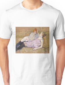 Henri De Toulouse Lautrec The Sofa 1896  Unisex T-Shirt
