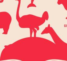 Retro animals Sticker
