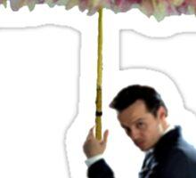moriarty with umbrella Sticker