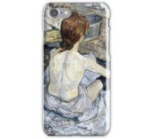 Henri de Toulouse Lautrec -  Rousse (1889)  iPhone Case/Skin