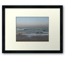 Beach in Nahariyya Framed Print