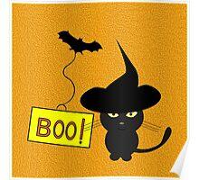 Cute cat in Halloween Poster