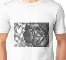 Fragrant rose, drawing with delicate rose petals Unisex T-Shirt