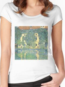 Gustav Klimt - The Schloss Kammer On The Attersee Iii  Women's Fitted Scoop T-Shirt