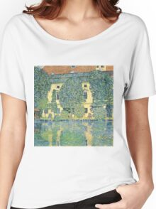 Gustav Klimt - The Schloss Kammer On The Attersee Iii  Women's Relaxed Fit T-Shirt