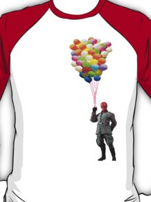 red skull with balloons T-Shirt