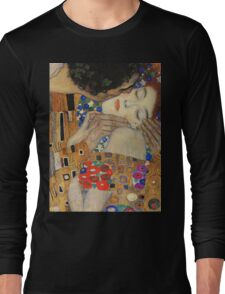 Gustav Klimt - The Kiss, 1907-08 Detal 4 Long Sleeve T-Shirt