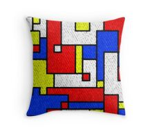 Bright Bricks Throw Pillow