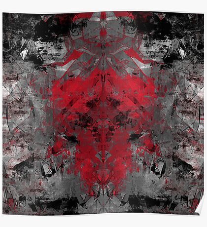abstract  red/grey Poster