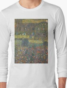 Gustav Klimt - Country House By The Attersee Long Sleeve T-Shirt