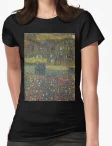 Gustav Klimt - Country House By The Attersee Womens Fitted T-Shirt