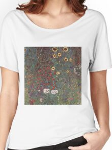 Gustav Klimt - Country Garden With Sunflowers 1906 Women's Relaxed Fit T-Shirt