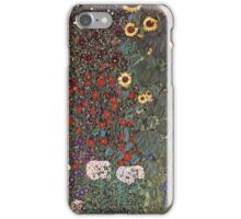 Gustav Klimt - Country Garden With Sunflowers 1906 iPhone Case/Skin