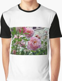 Beautiful gentle pink roses background Graphic T-Shirt